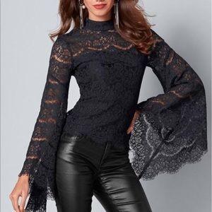 NWT Venus black lace top blouse choose sz 8 or 12